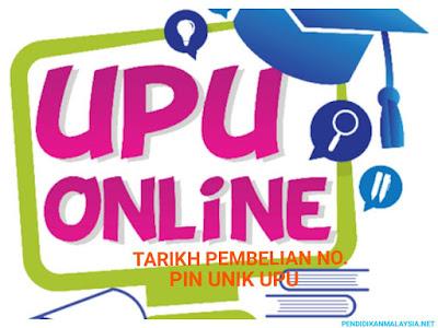 Tarikh Pembelian No. Pin Unik UPU 2018/2019