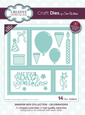 Creative Expressions Shadow Box Collection Celebrations Dies CED9314