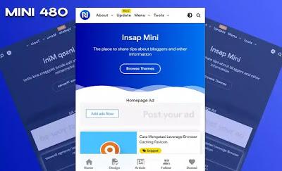 Download Invert Mini 480 Blogger Template