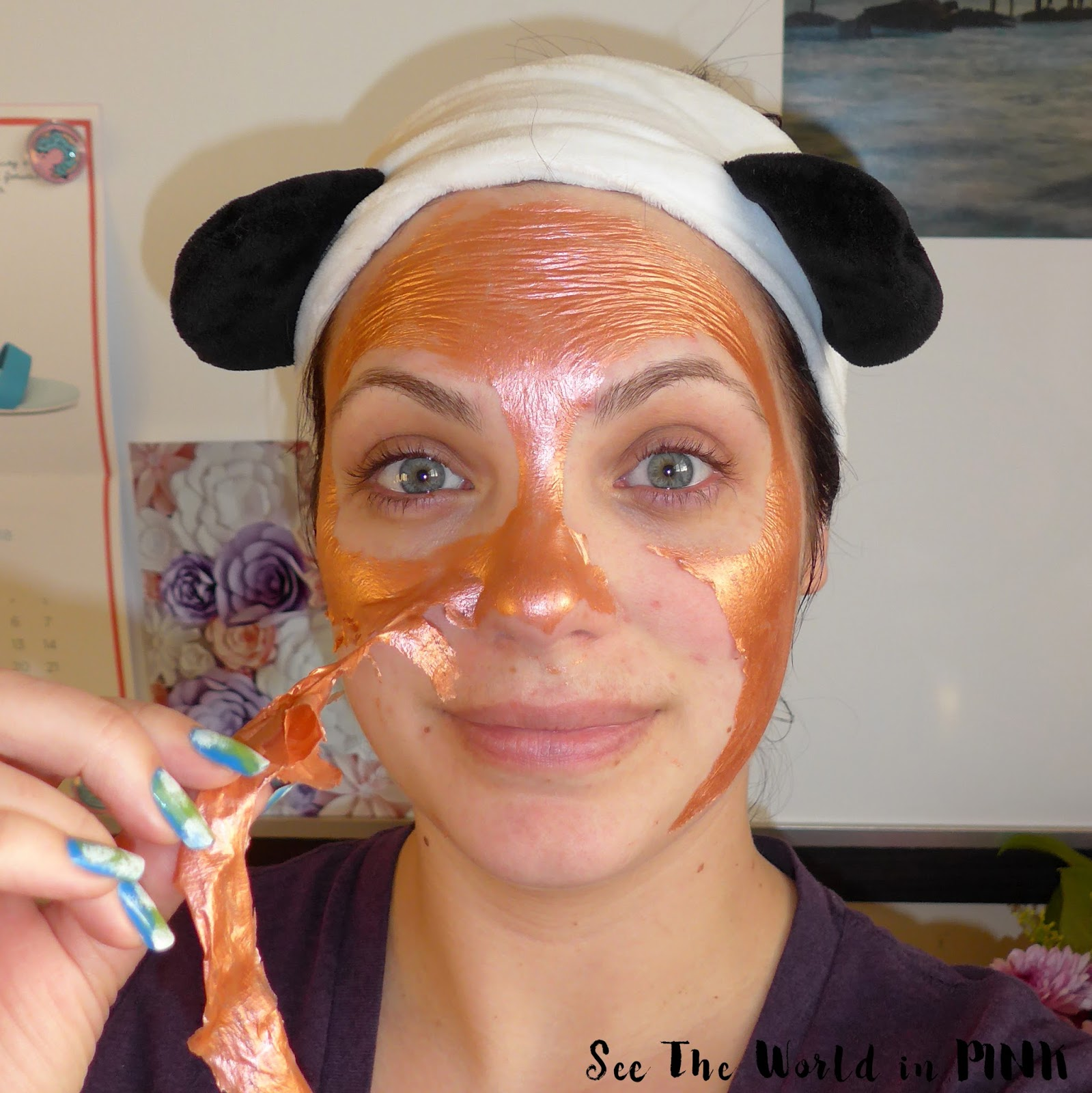 Mask Wednesday - Origins GinZing Peel-Off Mask to Refine and Refresh Try-on and Review!