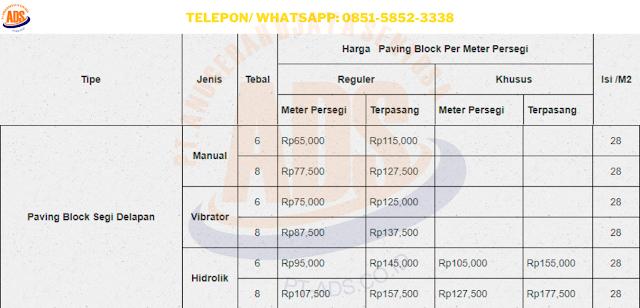 Harga Paving Block Indramayu Produsen, Supplier dan Jasa Pasang