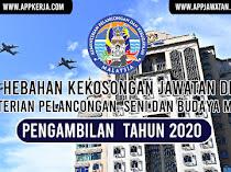 Jawatan Kosong Terkini di Kementerian Pelancongan, Seni Dan Budaya Malaysia (MOTAC)
