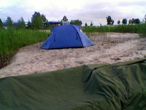 täysi koukku ylös Beach Camping
