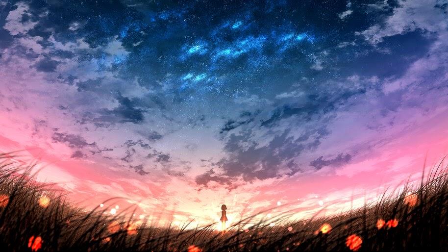 Anime Sky Scenery Sunrise 4k Wallpaper 4 2371