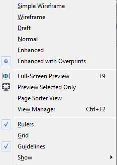 corel draw menu image