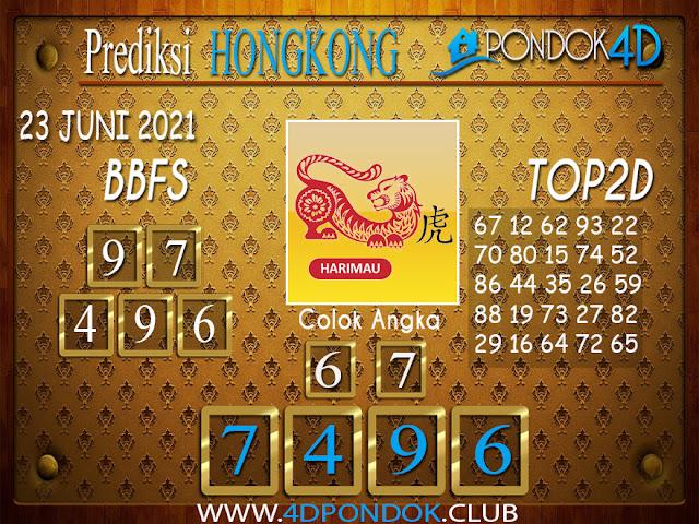 Prediksi Togel HONGKONG PONDOK4D 23 JUNI 2021