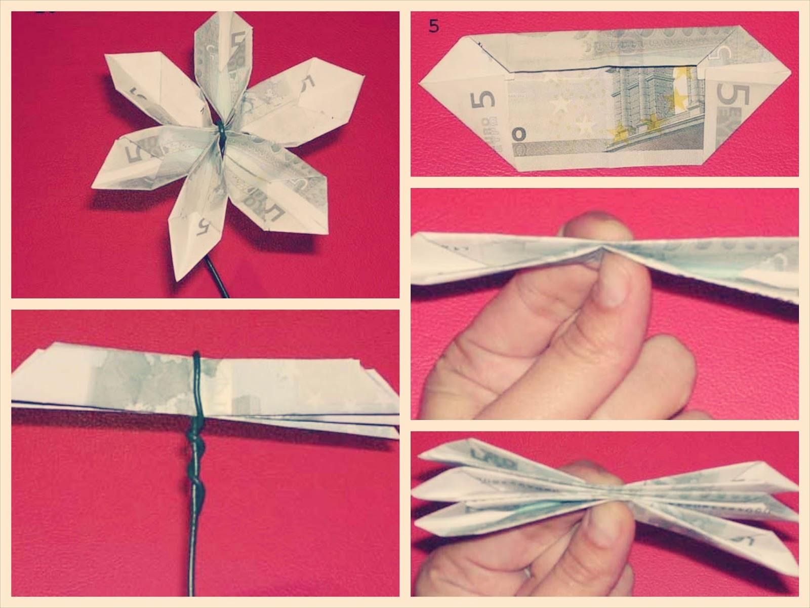 Hacer flores de billetes DIY tutorial paso a paso