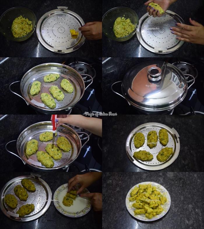 Cabbage Muthiya Recipe - कैबेज मुठिया  रेसिपी - Priya R - Magic of Indian Rasoi