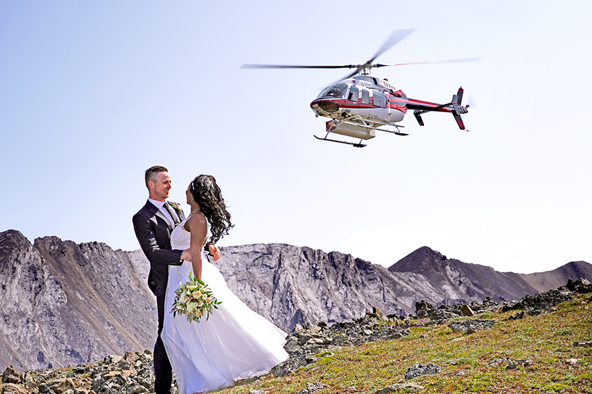Summer Heli Wedding