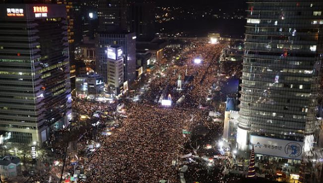 Image Attribute: Actual Image of the Protest in Seoul, South Korea