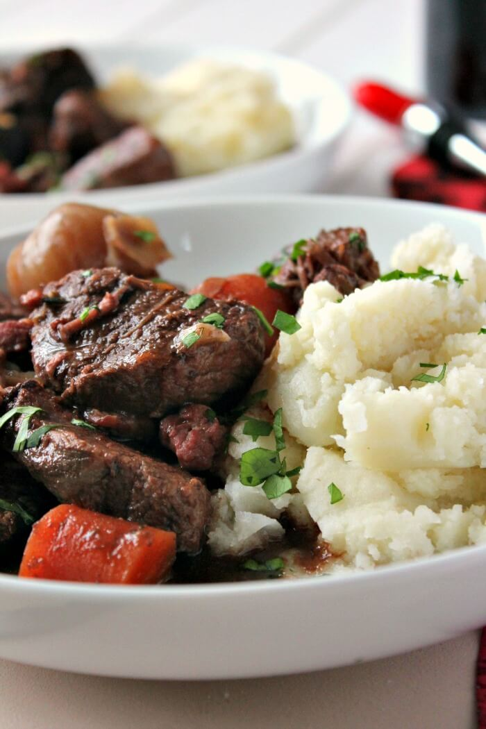 Boeuf Bourguignon in the slow cooker