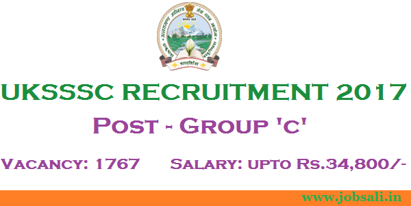 UKSSSC Group C Vacancy, Govt Jobs in Uttarakhand, Group C jobs in Uttarakhand