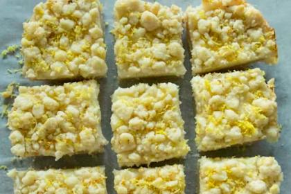 Lemon Sugar Cookie Bars
