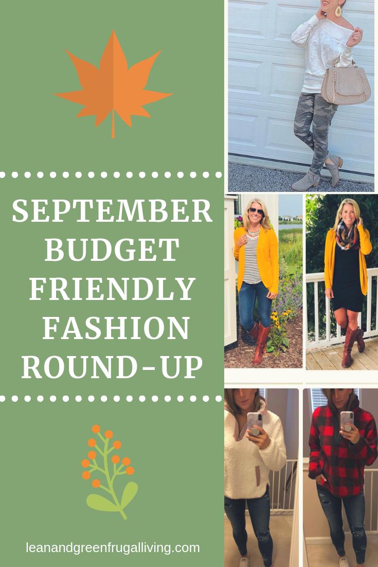 September Budget Friendly Fashion Round- Up