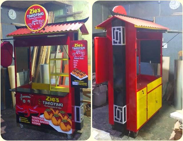 Gerobak unik-Gerobak makanan jepang-Booth Takoyaki