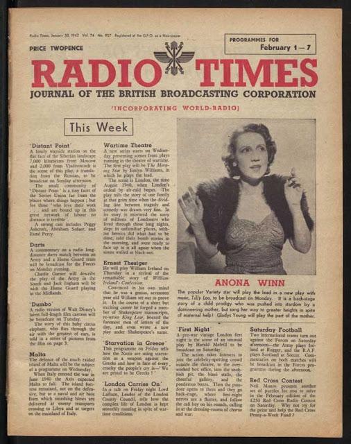 Radio Times, 30 January 1942 worldwartwo.filminspector.com