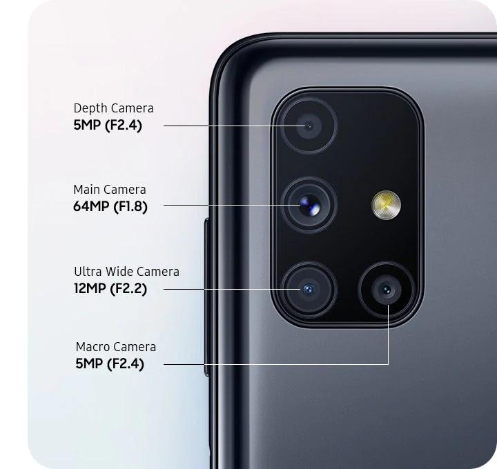 Kamera Galaxy M51 Foto: Samsung