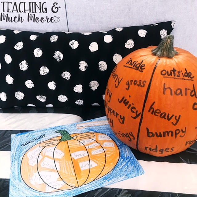 adjective lesson and pumpkins