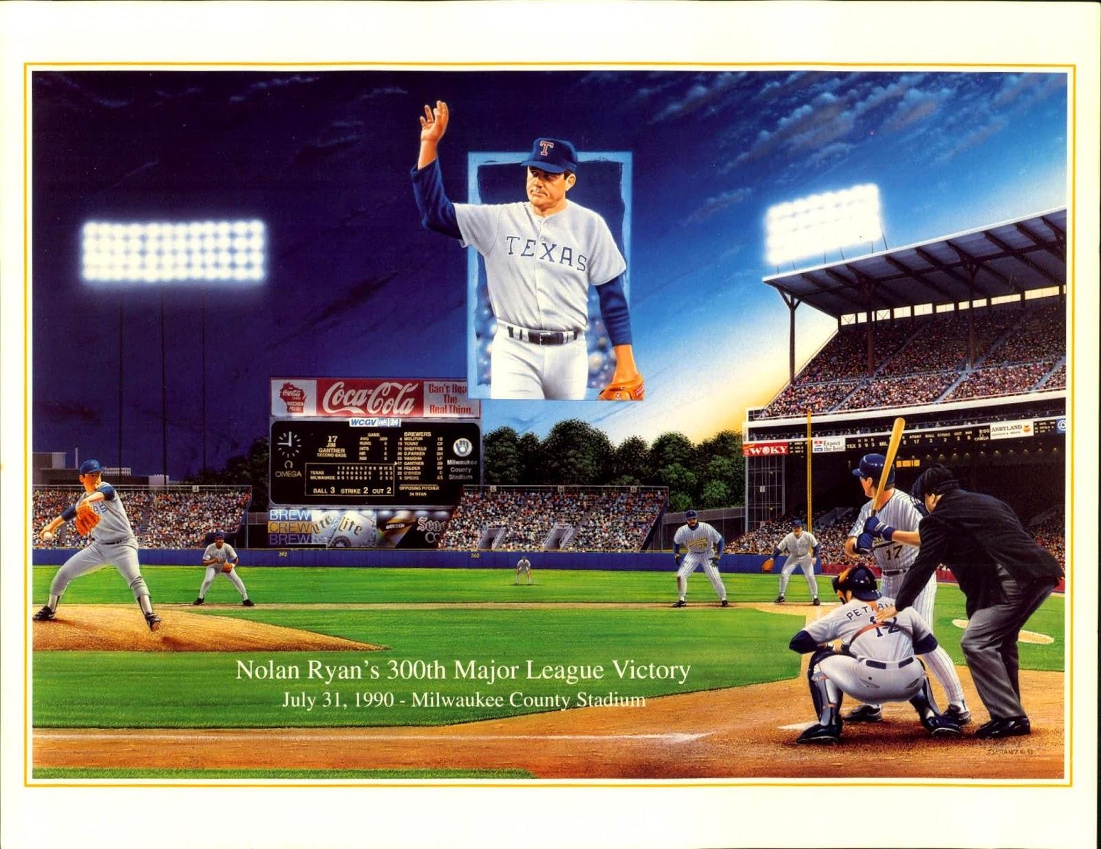 Baseball Sisco Kid Style Nolan Ryan Wins His 300th Game