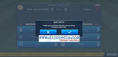 Gambar Posting Trik Berhenti Dari Pertandingan Pada Game Dream League Soccer
