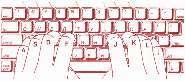 online-hindi-typing-test-finger-position