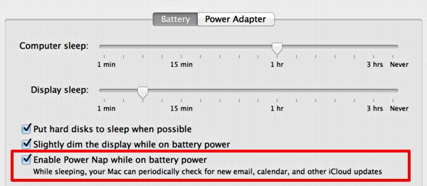 tips merawat baterai laptop dan mengaktifkan power nap macbook