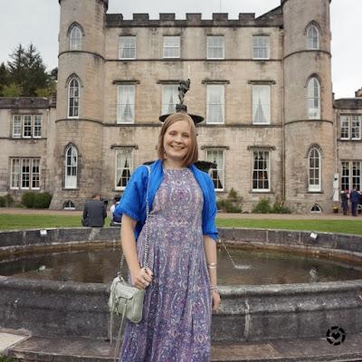 awayfromblue Instagram | melville castle hotel wedding guest maxi dress outfit spring