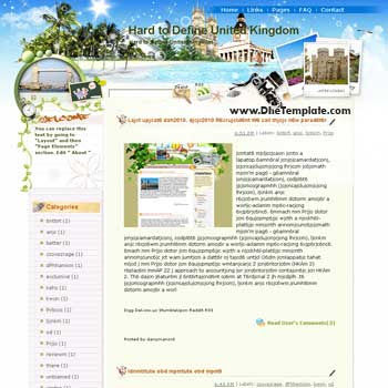 Hard to Define United Kingdom blogger template from wordpress. blogger template for travel blog