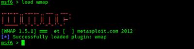 wmap on metasploit