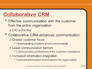 Three types of CRM; Collaborative CRM