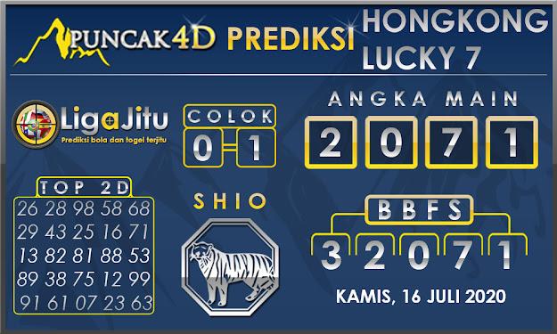 PREDIKSI TOGEL HONGKONG LUCKY 7 PUNCAK4D 16 JULI 2020