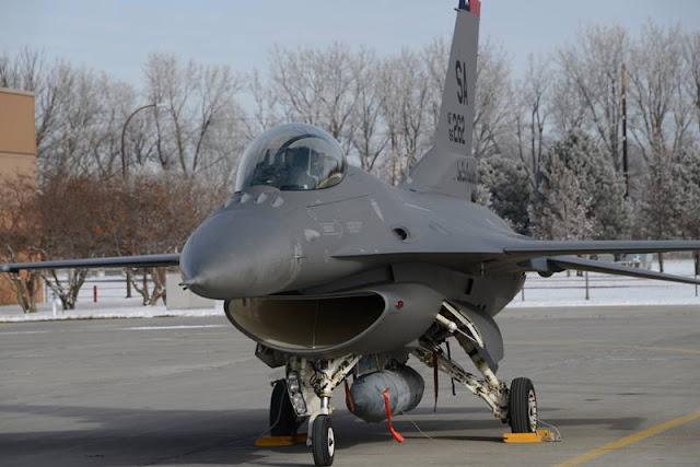 ANG F-16 new dark gray paint