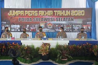 Polda Sulsel Gelar Press Release Akhir Tahun Bahas Pelaksanaan Operasi Aman Nusa II dan Yustisi