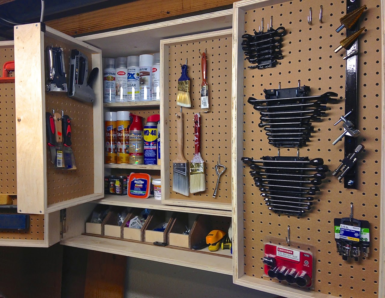 Perfect Pegboard Tool Storage Cabinet Project