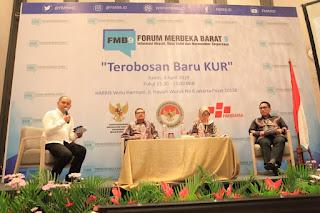 Forum Merdeka Barat 9, target KUR 60%, Indonesia Maju, Perekonomian Mikro, Optimis Maju dengan Kredit Usaha Rakyat