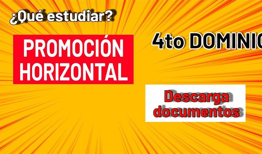Que estudiar para PROMOCION HORIZONTAL: cuarto dominio