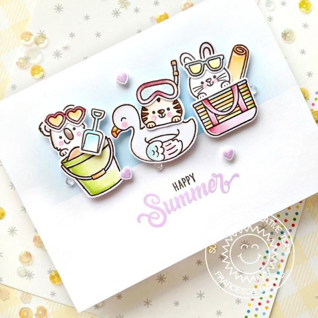 Sunny Studio Stamps: Beach Buddies Summer Themed Card by Franci Vignoli