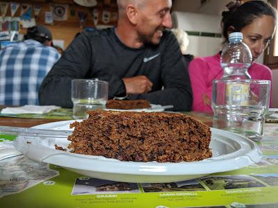 Another rifugio-made dessert - chocolate and coffee cake.