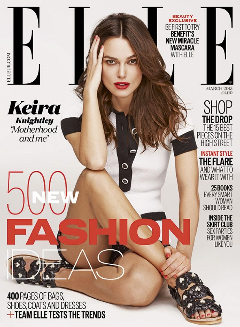 Keira Knightley covers Elle UK March 2015 issue