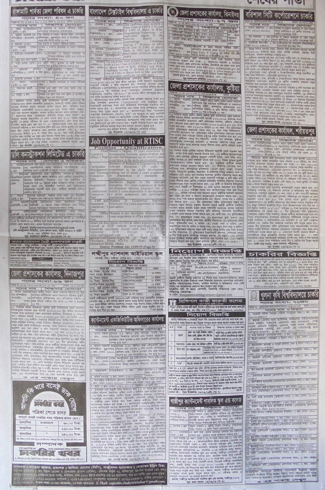 ajker chakrir khobor, ajker chakrir potrika, all job news, all jobs bd newspaper, bangladesh job news, bank job news, bd govt chakrir khobor, bd govt job circular, bd govt jobs, bd job