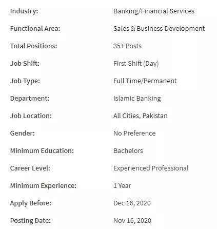 BANK AL HABIB LIMITED JOBS 2020