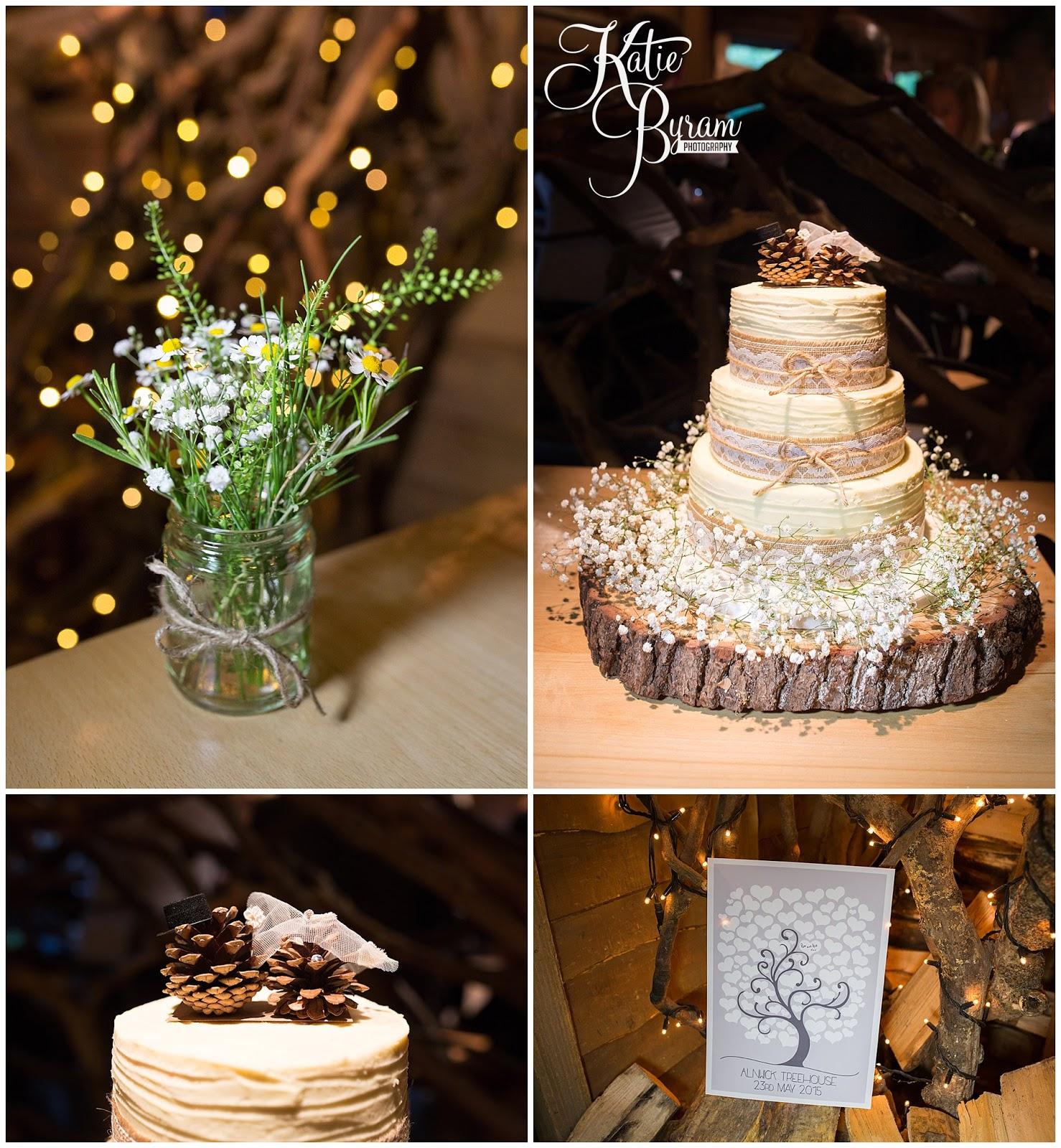 A Twinkly Woodland Themed Alnwick Treehouse Wedding: Lynne