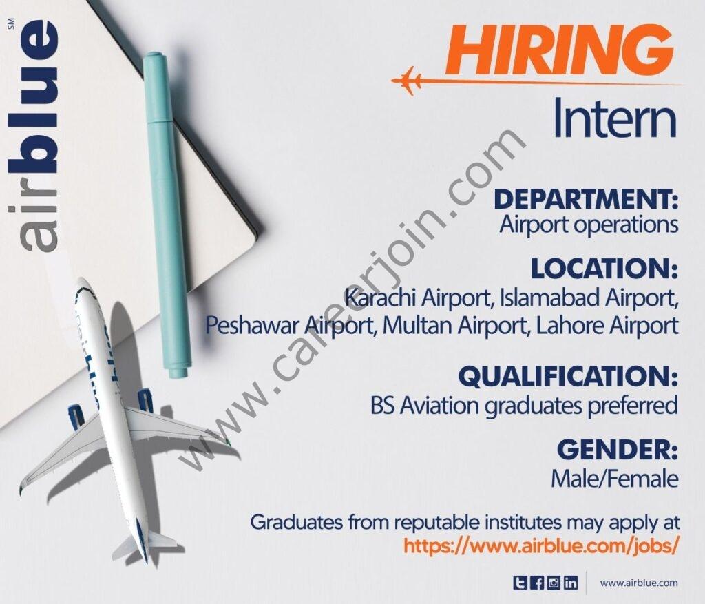 https://www.airblue.com/jobs - Airblue Internship 2021 in Pakistan