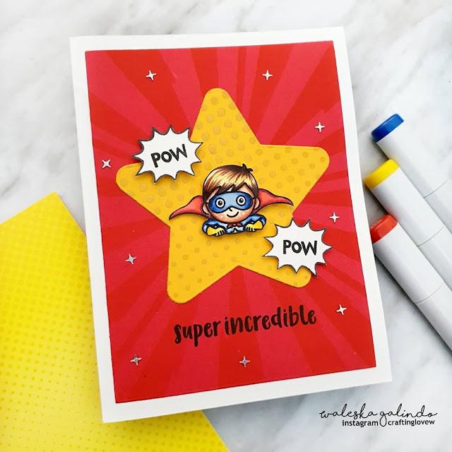 Sunny Studio Stamps: Super Duper Customer Card by Waleska Galindo