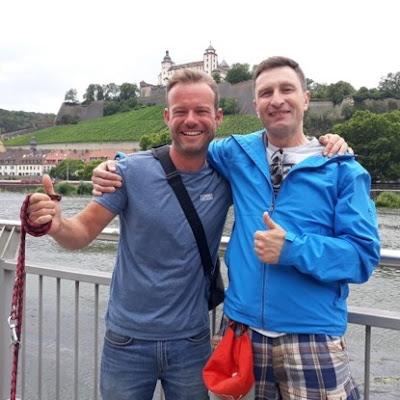 Jörg e Miro: o gosto por carros promovendo novas amizades.