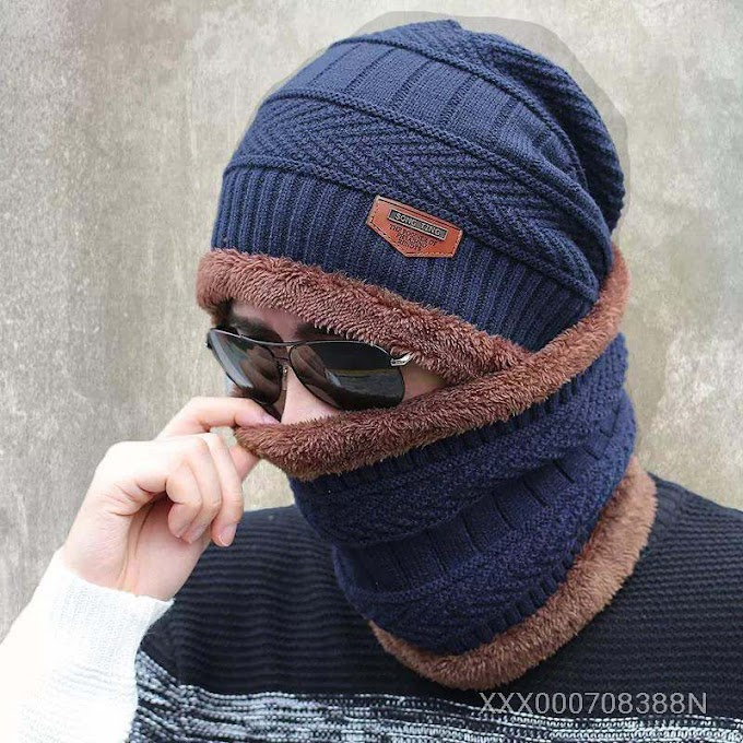 Knitted Scarf Beanies Knit Men'S Hat Caps Skullies Bonnet
