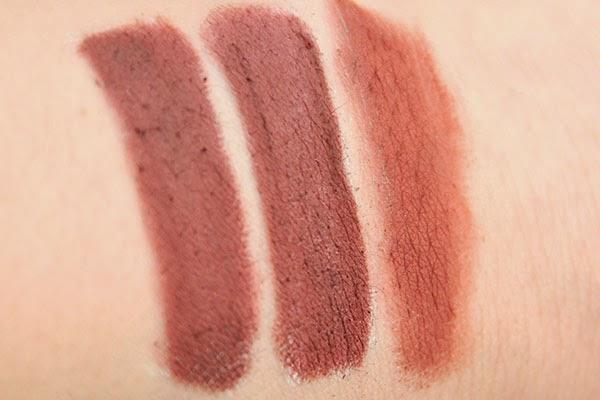 Alverde Schminkstift 10 weiss Kunterbunte Farbwelt LE vs. Nyx Chrimaluxe 06 mulberry wine