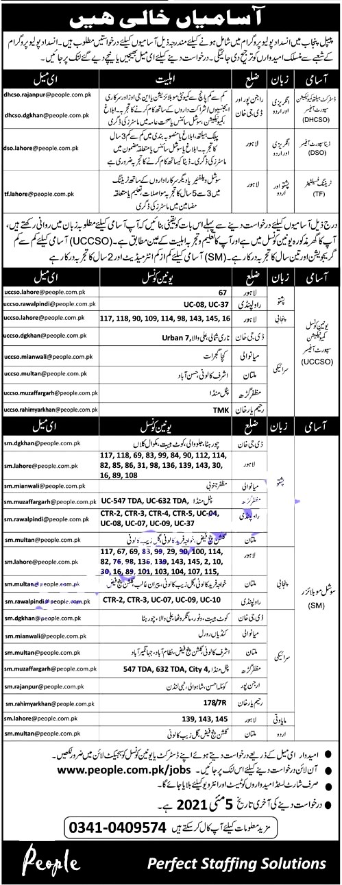 Latest Jobs in People Punjab Polio Eradication PPPE  May 2021