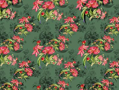 floral water colour textile repeat 7045