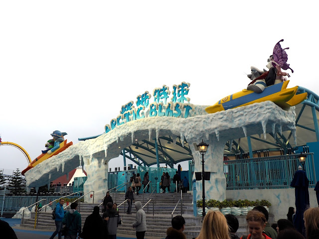 Arctic Blast rollercoaster in the Polar Adventure area of Ocean Park, Hong Kong